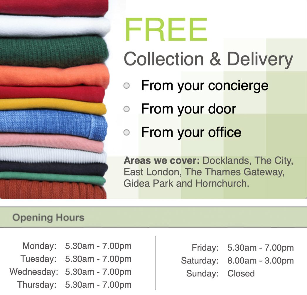 Limehouse Dry Cleaning & Laundry Co. Free Collection & Delivery